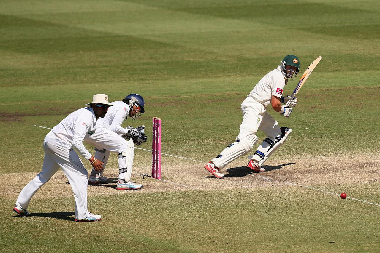 SYDNEY, AUSTRALIA - JANUARY 06:  Michael Hussey of Australia bats during day four of the Third Test match between Australia and Sri Lanka at Sydney Cricket Ground on January 6, 2013 in Sydney, Australia.  (Photo by Cameron Spencer/Getty Images)