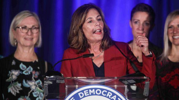 PHOTO: In this Nov. 6, 2018, file photo, Attorney General-elect Kathleen Jennings addresses supporters in Wilmington, Del. (Saquan Stimpson/ZUMA Wire via Newscom, FILE)
