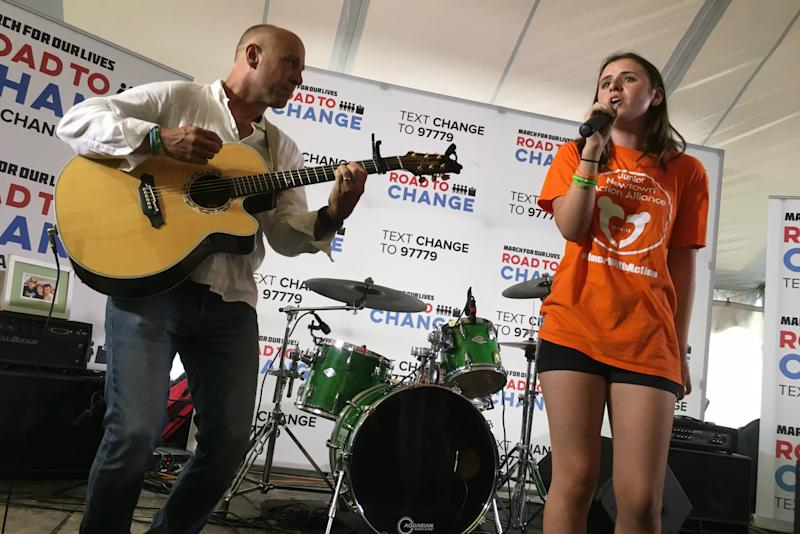 Parkland students bring the March for Our Lives summer tour to an end in Newtown