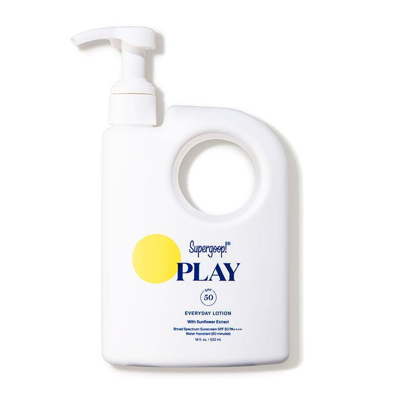 """<br><br><strong>Supergoop!</strong> PLAY Everyday Lotion SPF 50 with Sunflower Extract, $, available at <a href=""""https://go.skimresources.com/?id=30283X879131&url=https%3A%2F%2Fshop-links.co%2F1738886909988196910"""" rel=""""nofollow noopener"""" target=""""_blank"""" data-ylk=""""slk:DermStore"""" class=""""link rapid-noclick-resp"""">DermStore</a>"""
