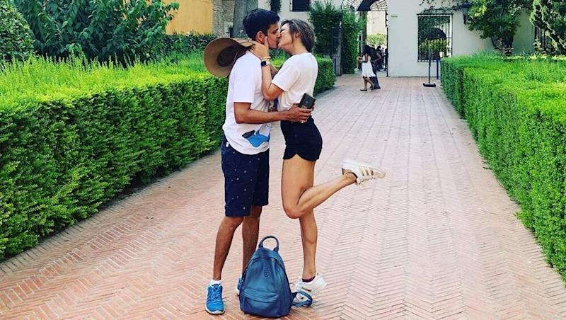 Drashti Dhami and Niraj Khemka Spice Up Their Holiday In Spain With A Passionate Kiss - View Pic