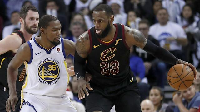 Monday's Cavs-Warriors finish is still the talk of the NBA. (AP)