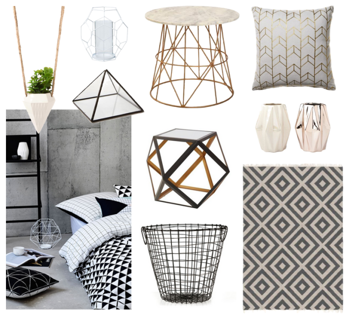 Geometric decor pieces are everywhere these days.