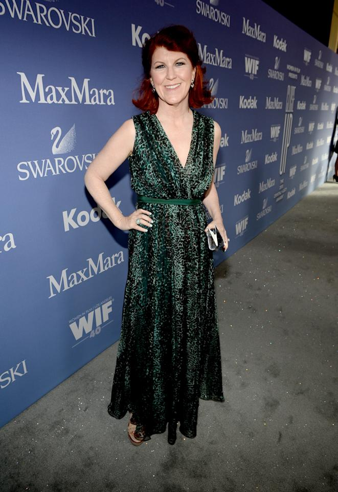 BEVERLY HILLS, CA - JUNE 12: Actress Kate Flannery attends Women In Film's 2013 Crystal + Lucy Awards at The Beverly Hilton Hotel on June 12, 2013 in Beverly Hills, California. (Photo by Michael Buckner/Getty Images for Women In Film)
