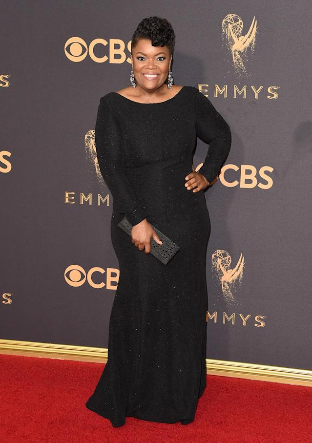 <p>Yvette Nicole Brown attends the 69th Primetime Emmy Awards on Sept. 17, 2017.<br> (Photo: Getty Images) </p>