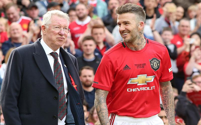 Ferguson led out a United legends side in a charity match to mark the 20th anniversary of the 1999 Champions League triumph - Manchester United
