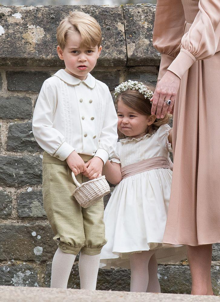 Prince George and Princess Charlotte at Pippa Middleton's wedding in May 2017