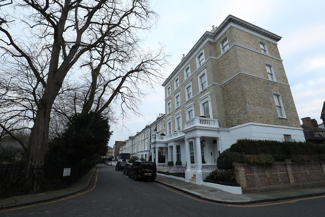 Carlyle Square in Kensington and Chelsea, London, one of the most expensive streets in the UK. (PA)