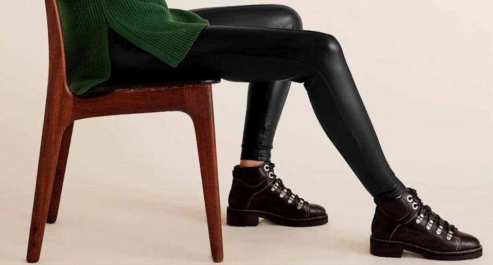 Marks and Spencer's Faux Leather Leggings are our winter wardrobe must have - and they're under £20. (M&S/ Yahoo Style UK)