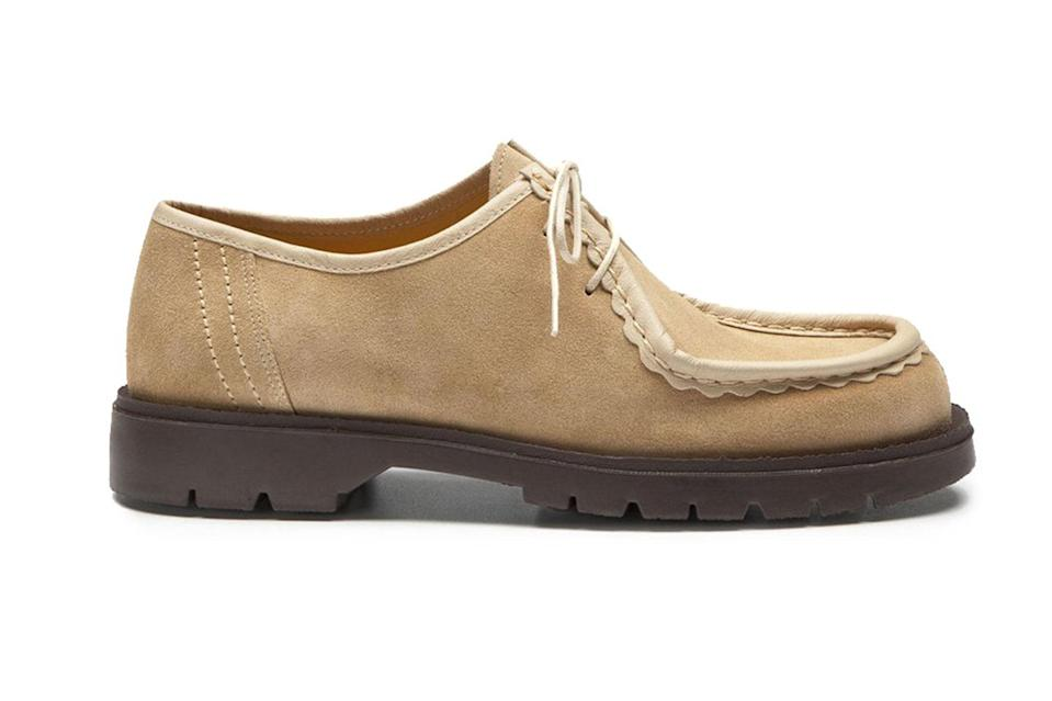"""These traditional French work shoes are a little more angular and substantial than your average pair of chukkas, and they'll serve as a strong foundation for all manner of fits year-round.<br> <br> <em>Kleman Padror V shoes</em> $160, O.N.S.. <a href=""""https://onsclothing.com/collections/footwear/products/padror-v-mtp0919a?variant=34810677297310"""" rel=""""nofollow noopener"""" target=""""_blank"""" data-ylk=""""slk:Get it now!"""" class=""""link rapid-noclick-resp"""">Get it now!</a>"""