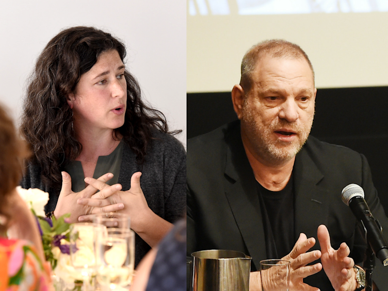 """I remembered what it was like to have the full force of Harvey Weinstein — back then a mountainous man — screaming vulgarities at me, his spit hitting my face,"" Traister wrote."