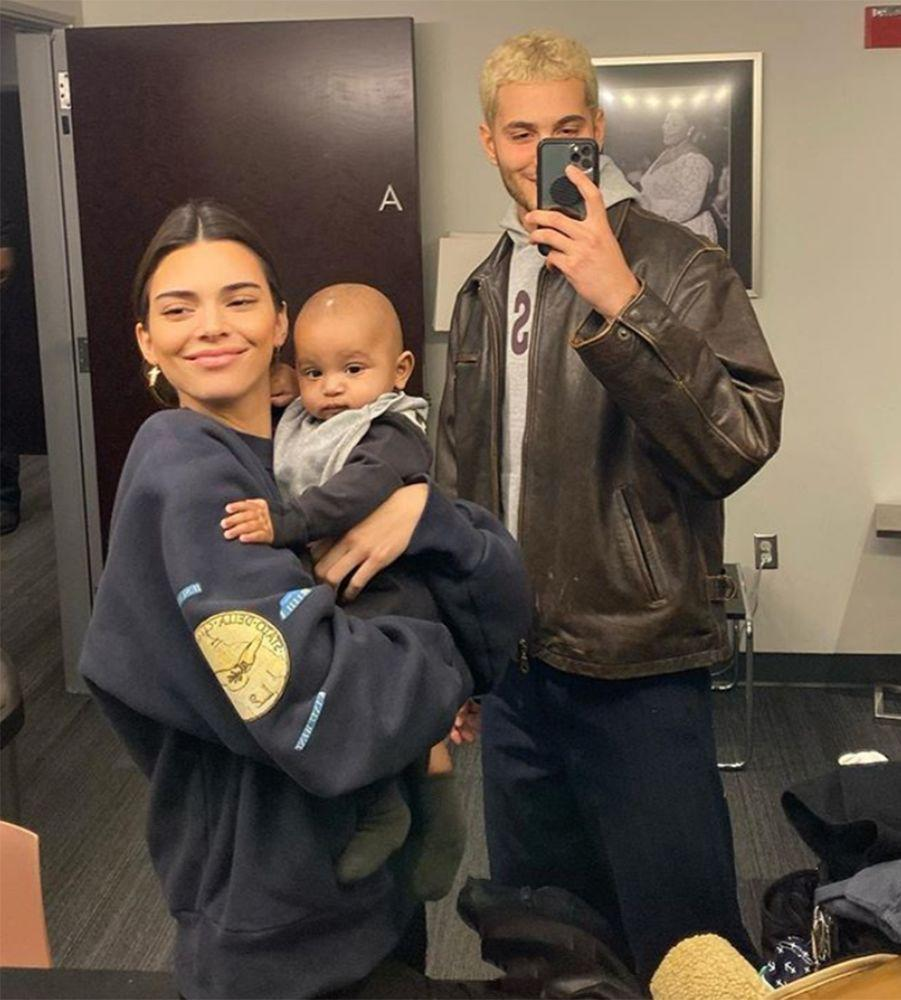 Kendall Jenner (L) with nephew Psalm and Fai Khadra | Kendall Jenner/Instagram