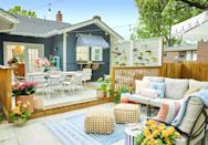 """<p>No matter the size of <a href=""""https://www.goodhousekeeping.com/home/gardening/g1809/decor-ideas-deck-porch/"""" rel=""""nofollow noopener"""" target=""""_blank"""" data-ylk=""""slk:your patio, deck, or backyard"""" class=""""link rapid-noclick-resp"""">your patio, deck, or backyard</a>, there are easy ways to expand your home's outdoor footprint. And since a total overhaul may not be feasible for you, it's best to work with what you already have to create the perfect outdoor oasis, whether it's for everyday activities, <a href=""""https://www.goodhousekeeping.com/holidays/tips/g3620/summer-party/"""" rel=""""nofollow noopener"""" target=""""_blank"""" data-ylk=""""slk:summer entertaining"""" class=""""link rapid-noclick-resp"""">summer entertaining</a>, or a mix of both. Browse through these small backyard ideas to find simple ways to upgrade your space. There's a variety of landscaping designs, <a href=""""https://www.goodhousekeeping.com/home/gardening/advice/g1007/backyard-decorating/"""" rel=""""nofollow noopener"""" target=""""_blank"""" data-ylk=""""slk:decor inspiration"""" class=""""link rapid-noclick-resp"""">decor inspiration</a>, and gardening fixes that are easy enough to tackle on your own (hello DIYs!) while sticking to your budget, no matter how small. </p><p>With these vertical planters, multi-functional work benches, and bar carts, your <a href=""""https://www.goodhousekeeping.com/home/gardening/tips/g1226/small-outdoor-space-decor/"""" rel=""""nofollow noopener"""" target=""""_blank"""" data-ylk=""""slk:small-but-mighty outdoor space"""" class=""""link rapid-noclick-resp"""">small-but-mighty outdoor space</a> will pack a big punch all summer (well, year) long. And if you do it right, then many of these designs and decorating ideas will actually make your tiny space look — and feel — bigger than it really is, which is the ultimate win-win. </p>"""