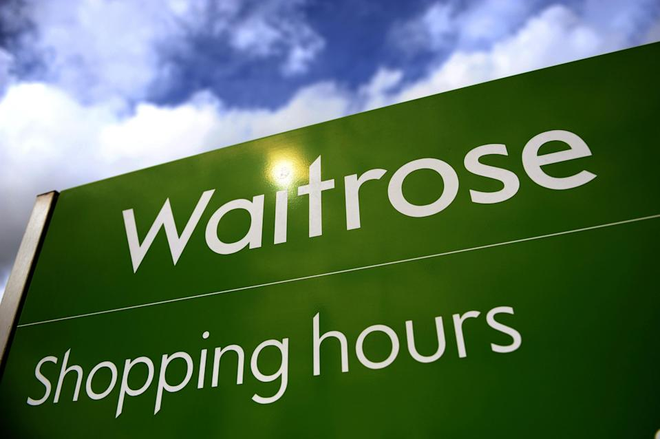 """Embargoed to 0001 Monday August 31 File photo dated 11/09/08 of a Waitrose sign. The boss of Waitrose has said the upmarket grocer sees its split from delivery partner Ocado as a """"big opportunity"""" as it looks to tempt customers on to its own platform."""