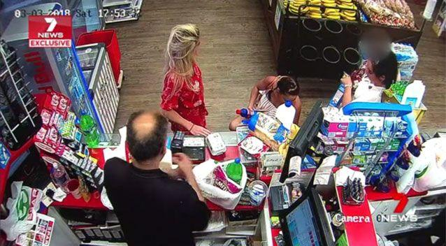 It is believed the group of women stole around $150 worth of groceries from a Chevron Island supermarket. Source: 7 News