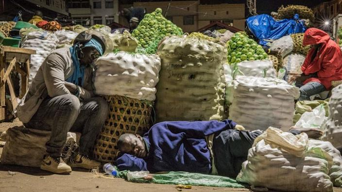 Traders were ordered to sleep in the markets to reduce the risk of bringing the virus home