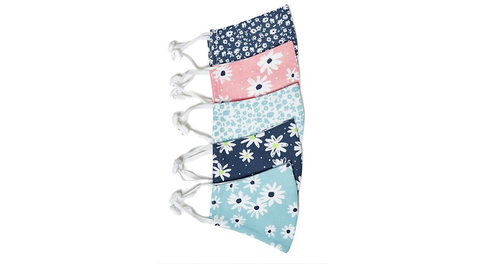 5 Pack Reusable & Adjustable Kids' Face Coverings