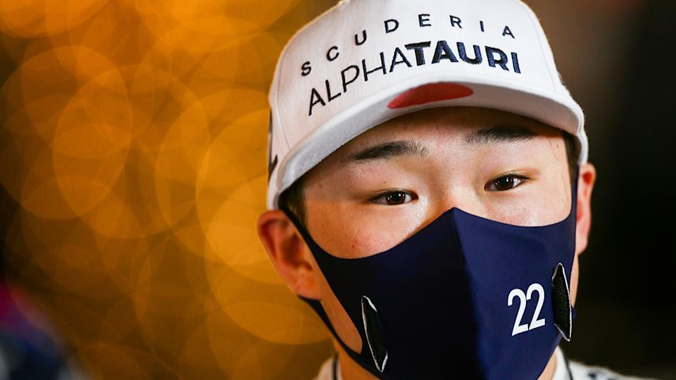 Yuki Tsunoda has been hailed as one of the best F1 rookies in years by F1 great Ross Brawn. (Photo by Peter Fox/Getty Images)