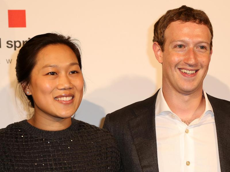 Priscilla Chan and Mark Zuckerberg in Berlin, Germany in 2016: Getty Images