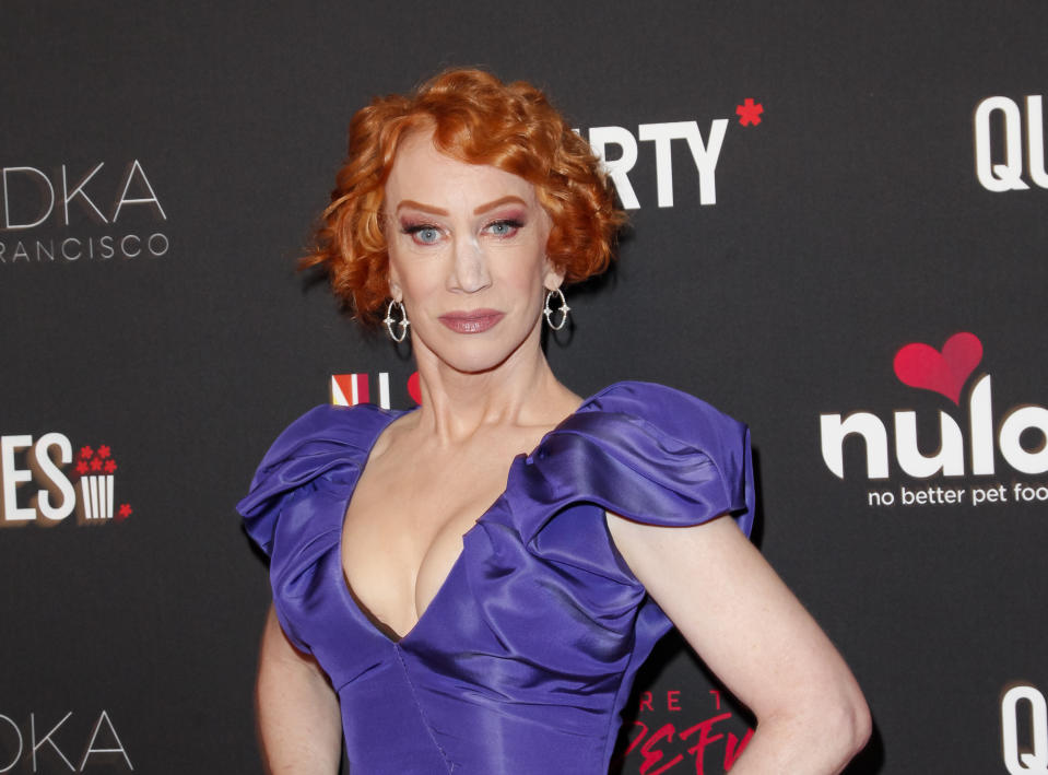 LOS ANGELES, CALIFORNIA - FEBRUARY 25: Kathy Griffin attends The Queerties 2020 Awards Reception at LA Liason on February 25, 2020 in Los Angeles, California. (Photo by Tibrina Hobson/Getty Images)
