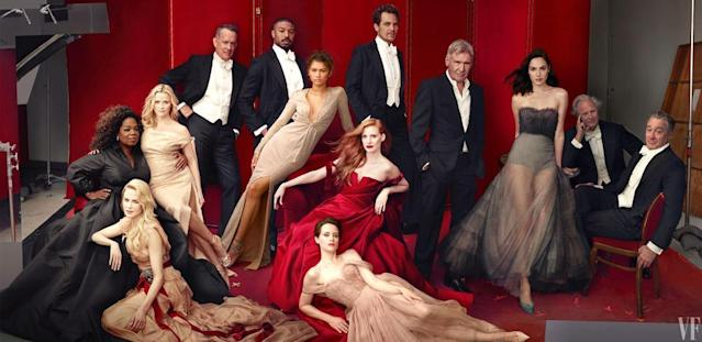 The Hollywood Issue cover. (Photo: Annie Liebovitz for Vanity Fair)
