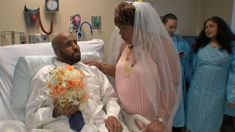 Terminal Cancer Patient Weds From His Hospital Bed (ABC News)