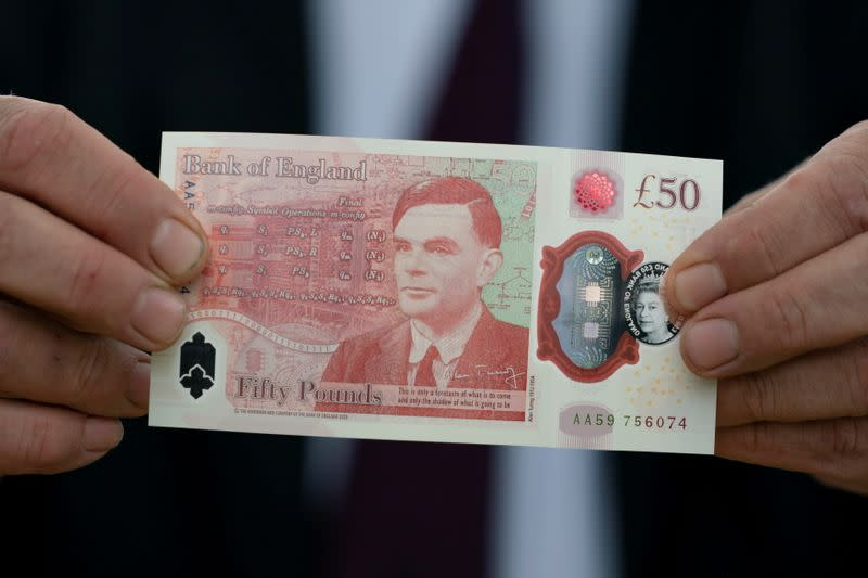 Bank of England reveals new £50 note featuring Alan Turing