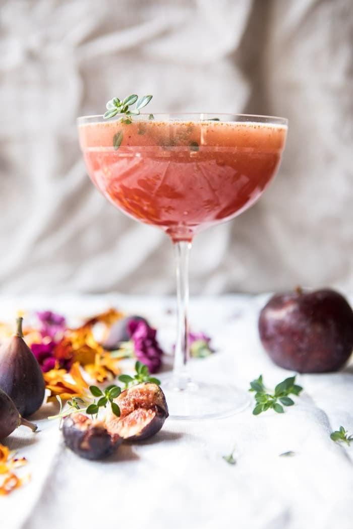 """<p>If you want to impress that special someone with your exquisite drink-making abilities, all you have to do is make this charming creation. Full of figs, plums, and elderflower liqueur, they'll be going back for seconds and thirds.</p> <p><strong>Get the recipe:</strong> <a href=""""https://www.halfbakedharvest.com/fig-honey-thyme-prosecco-smash/"""" class=""""link rapid-noclick-resp"""" rel=""""nofollow noopener"""" target=""""_blank"""" data-ylk=""""slk:fig honey thyme Prosecco smash"""">fig honey thyme Prosecco smash</a></p>"""