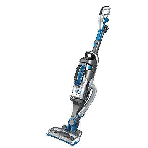 """<p><strong>BLACK+DECKER</strong></p><p>amazon.com</p><p><strong>$320.02</strong></p><p><a href=""""https://www.amazon.com/dp/B075VV5WYJ?tag=syn-yahoo-20&ascsubtag=%5Bartid%7C10055.g.27206827%5Bsrc%7Cyahoo-us"""" rel=""""nofollow noopener"""" target=""""_blank"""" data-ylk=""""slk:Shop Now"""" class=""""link rapid-noclick-resp"""">Shop Now</a></p><p>We love that this combo 2-in-1 vacuum has a removable canister and hose that makes it <strong>convenient to vacuum hardwood floors, stairs, ceilings and other hard-to-reach places. </strong>Plus it's foolproof to use because it automatically adjusts suction for bare floor (or thick carpet). Testers liked that it has touch controls, a 34-minute run time, and a compactor for dust that means less frequent empties. During our analysis it picked up almost 99% of debris, but a few bits got stuck on the wheels. The canister can be used with attachments, including a 3-in-1 nozzle, a crevice tool and an upholstery brush that all clip on so you always know where they are.</p>"""