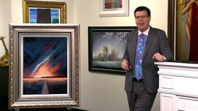 Principal Auctioneer Jordan Sitter tells viewers about an original work by Florida artist Ashton Howard.
