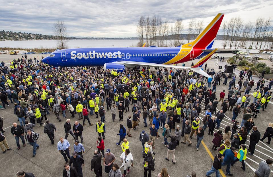 Southwest Airlines Boeing 737 Max 8 10,000