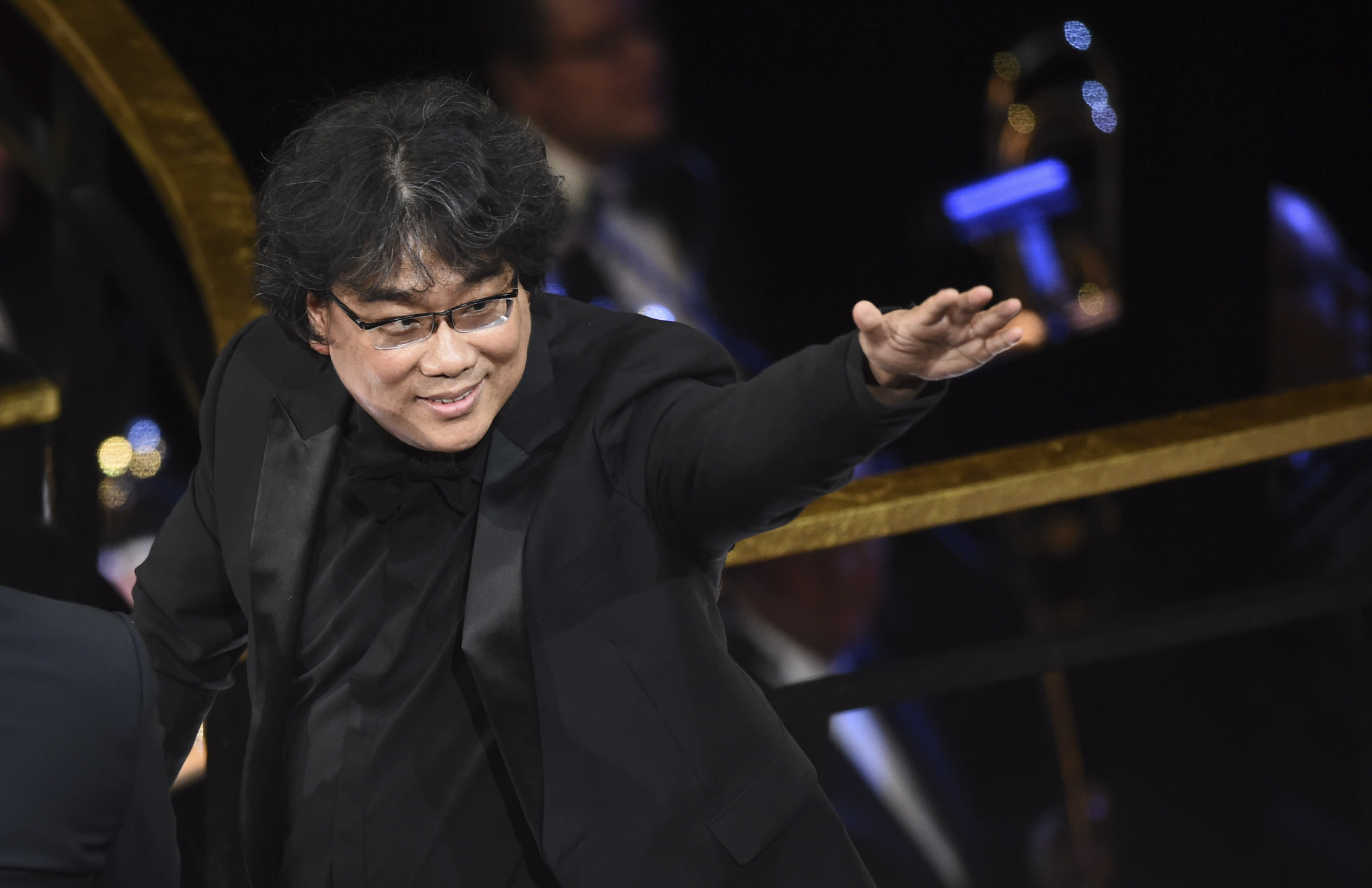 Bong Joon-ho at the Oscars on Sunday, Feb. 9, 2020, at the Dolby Theatre in Los Angeles. (AP Photo/Chris Pizzello)