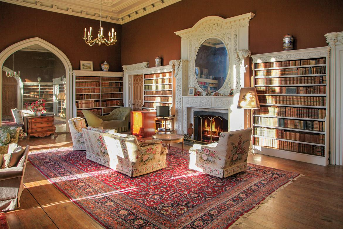 <p>There are seven reception rooms, including this impressive library. (LeadingEstates.com) </p>