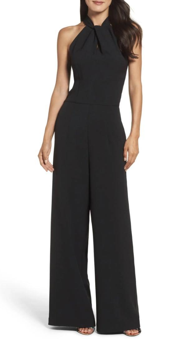 <p>Swap your little black dress with this classic and timeless <span>Julia Jordan Halter Neck Jumpsuit</span> ($138).</p>