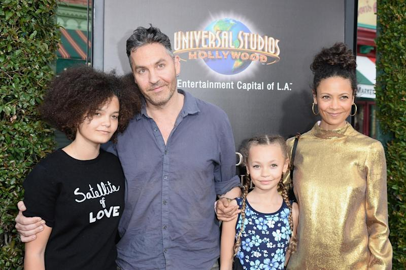 Family: Thandie Newton with her daughter Ripley Parker, husband Ol Parker and daughter Nico Parker (Matt Winkelmeyer/Getty)