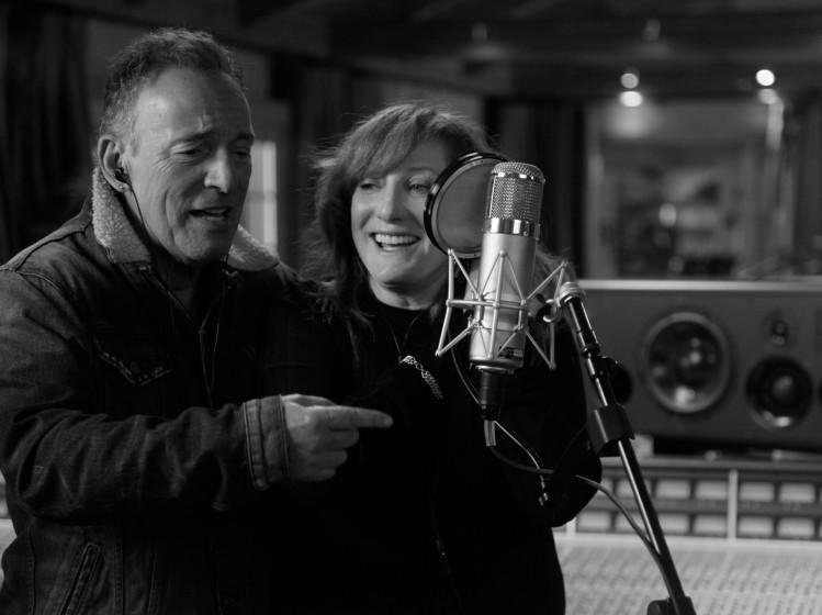 "Bruce Springsteen and Patti Scialfa in ""Bruce Springsteen's Letter to You,"" premiering globally October 23 on Apple TV+. Credit: Apple TV+"