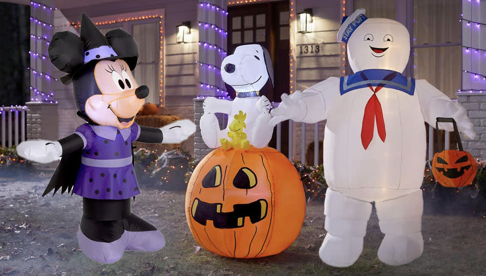 Nostalgia time! These Home Depot Halloween decorations are all inflatable ornaments for your lawn. (Photo: The Home Depot)