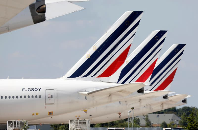 FILE PHOTO: Airplanes at Paris Charles de Gaulle airport in Roissy-en-France