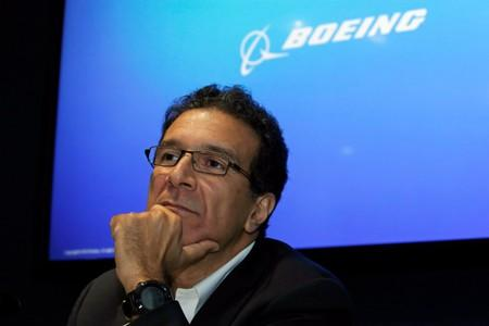 Boeing Commercial Sales and Marketing Vice President Ihssane Mounir attends a news conference at the 53rd International Paris Air Show at Le Bourget Airport near Paris
