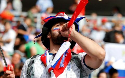 A Russian fan enjoys the pre match atmosphere prior to the 2018 FIFA World Cup Russia - Credit: Kevin C. Cox/Getty Images