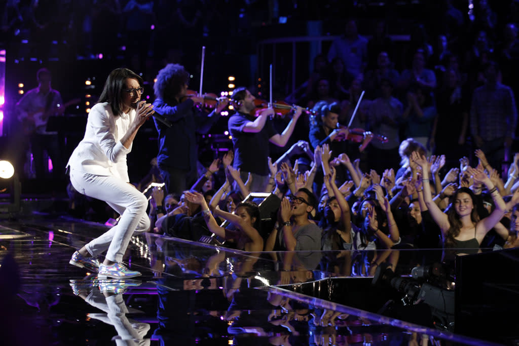 "Michelle Chamuel performs ""Why"" on ""The Final Live Performances"" episode of ""The Voice"" Season 4."