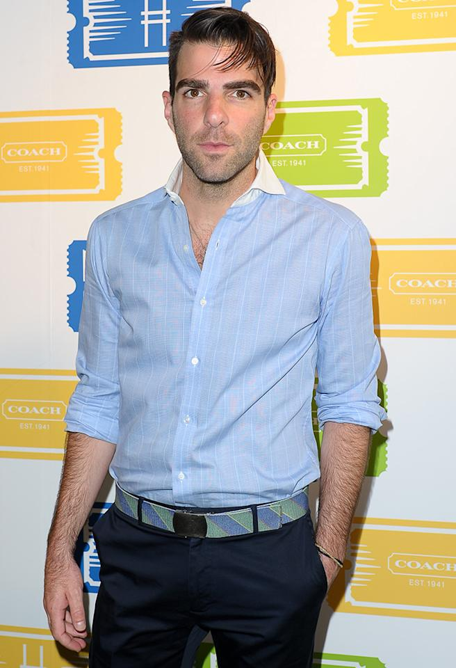"NEW YORK, NY - JUNE 11:  Zachary Quinto attends the 3rd Annual ""Summer Party On The Highline"" Hosted By Coach on June 11, 2013 in New York, United States.  (Photo by Rommel Demano/FilmMagic)"