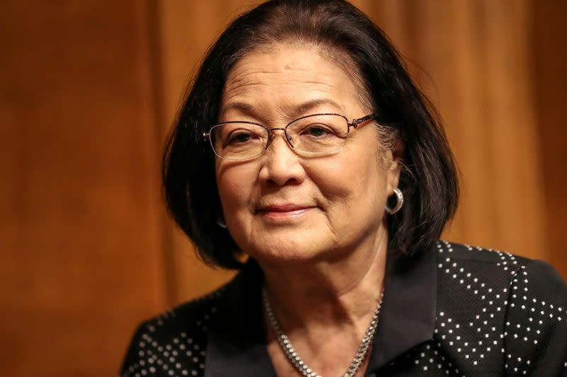FILE PHOTO: Senator Mazie Hirono (D-HI) arrives before a Senate Judiciary Constitution Subcommittee hearing on Capitol Hill in Washington
