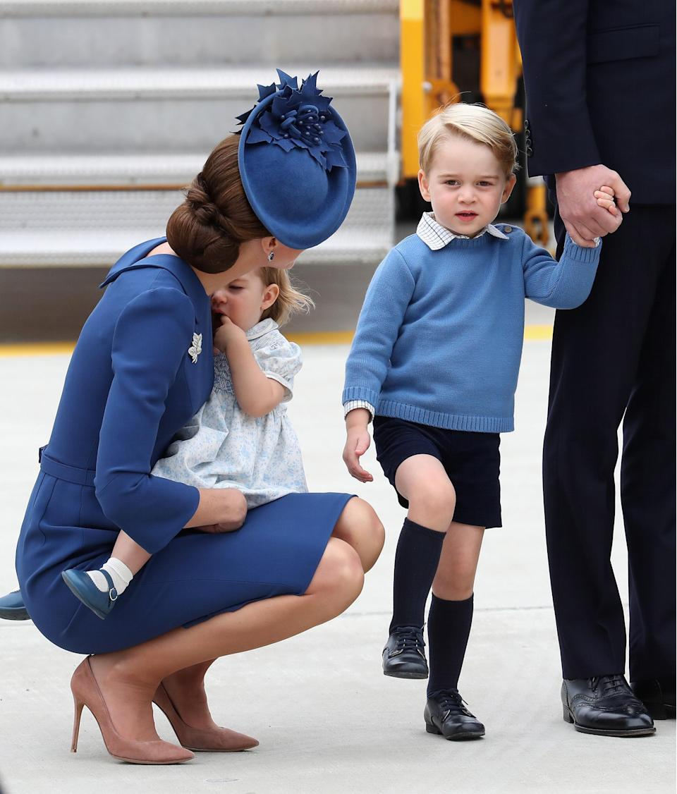 <p>They look like the cutest family when they all wear matching colours, but it seems maybe the kids aren't a fan as this time, Prince George was throwing the tantrum.</p>