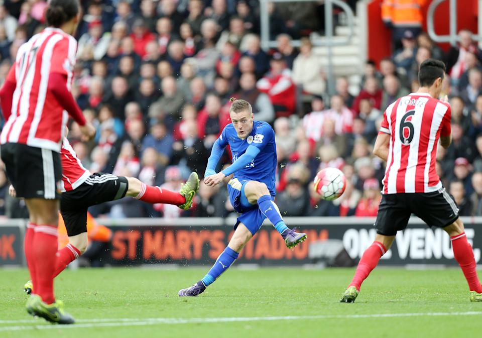 The Ordem 3 most certainly delivered! One of the biggest shocks in sporting history as Leicester City won the title. Jamie Vardy scored 24 on their way. (Photo by Plumb Images/Leicester City FC via Getty Images)