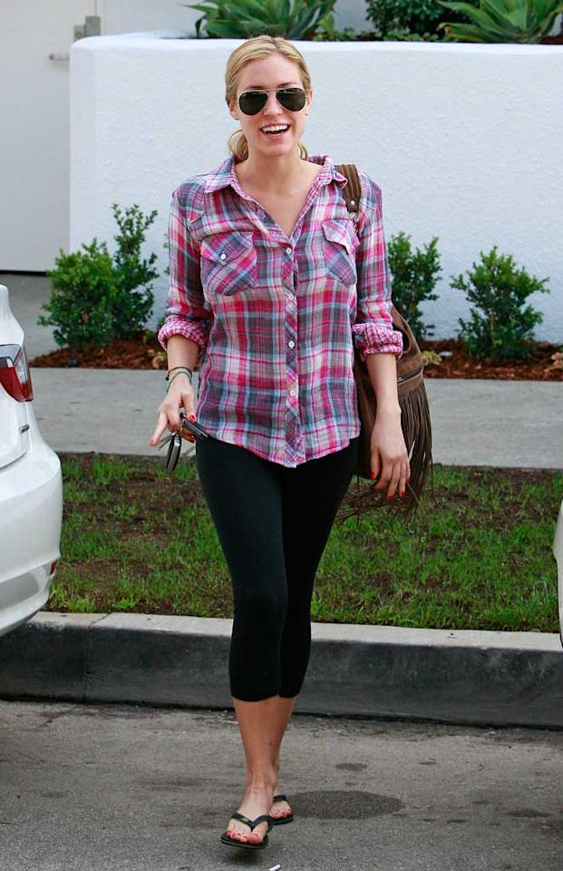 """Former """"Hills"""" hottie Kristin Cavallari put on a little plaid for running errands in L.A. Apparently, she didn't expect to run into the paparazzi! <a href=""""http://www.splashnewsonline.com"""" target=""""new"""">Splash News</a> - December 15, 2010"""