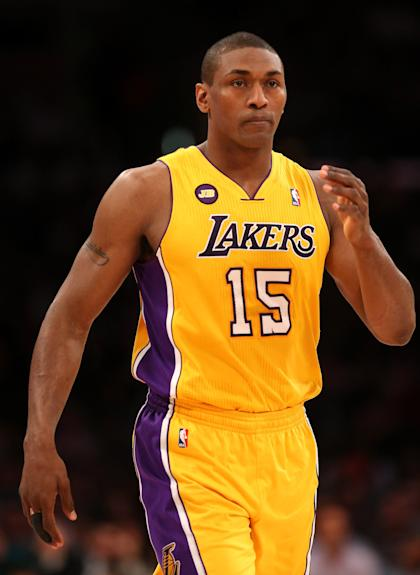 Metta World Peace is rejoining the Lakers. (Getty Images)