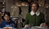 <p>The 12-second belch in 'Elf' is real and was performed by voice actor Maurice LaMarche. Will Ferrell lip-synced to the recording for the final film. </p>