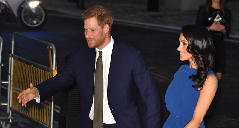 Prince Harry and Meghan Markle attend concert marking final days of WWI