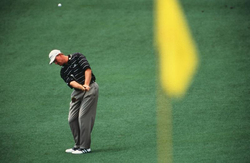 Ernie Els Swings During The 2002 Masters Tournament (Photo by Augusta National/Getty Images)